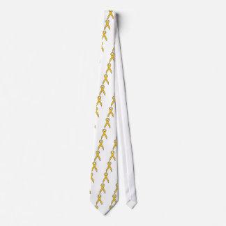 Yellow Awareness Ribbon Tie