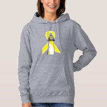 Yellow Awareness Ribbon with Lighthouse of Hope Hoodie