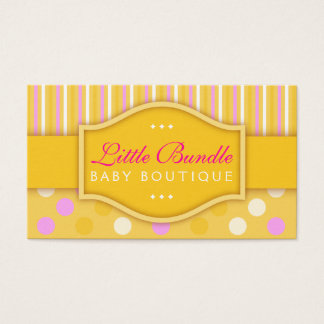 Yellow Babies Store Baby Boutique Business Card