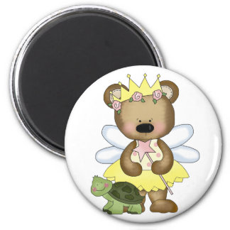Yellow Baby Bear Fairy 2 Inch Round Magnet