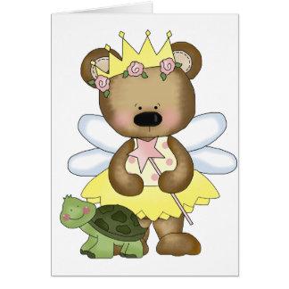 Yellow Baby Bear Fairy Card