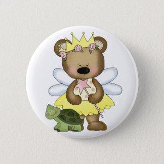 Yellow Baby Bear Fairy Pinback Button