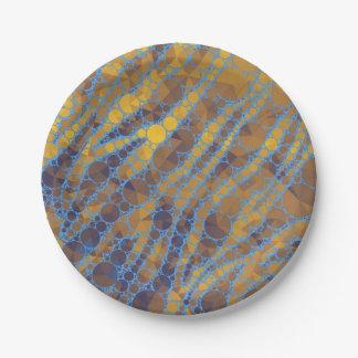 Yellow Baby Blue Zebra Paper Plate