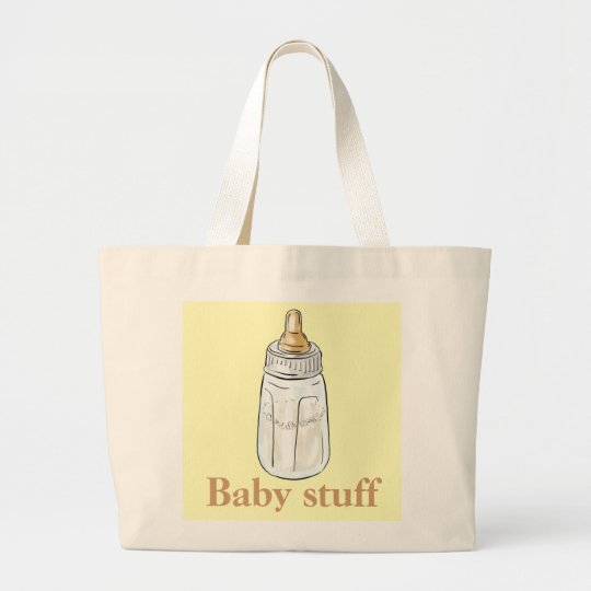 Yellow baby bottle baby stuff jumbo bag
