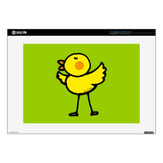 "yellow baby chick 15"" laptop decal"