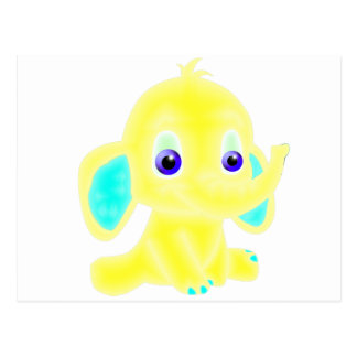 Yellow baby elephant post cards