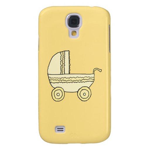 Yellow Baby Pram. Galaxy S4 Case
