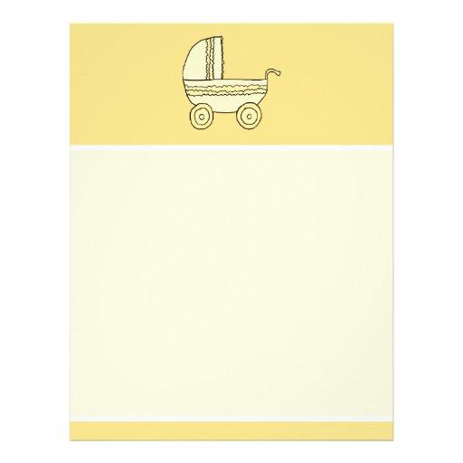 Yellow Baby Pram. Letterhead