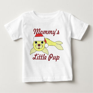 Yellow Baby Seal in Christmas Red Santa Hat Infant T-shirt