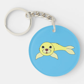 Yellow Baby Seal Keychain