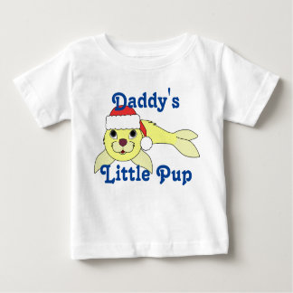 Yellow Baby Seal with Christmas Red Santa Hat T Shirt