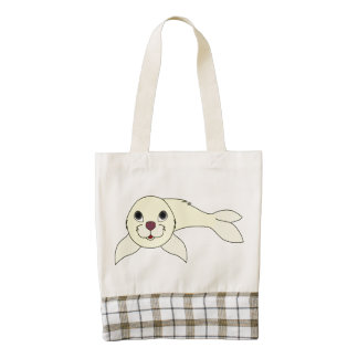Yellow Baby Seal Zazzle HEART Tote Bag