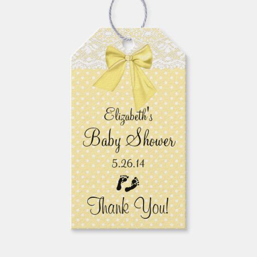 yellow baby shower guest favor thank you gift tags zazzle