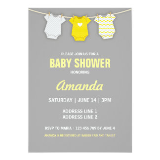 yellow baby shower invitations & announcements | zazzle, Baby shower invitations