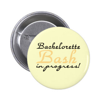 Yellow Bachelorette Bash Tshirts and Gifts 2 Inch Round Button