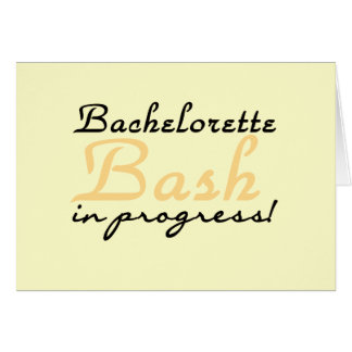 Yellow Bachelorette Bash Tshirts and Gifts Card