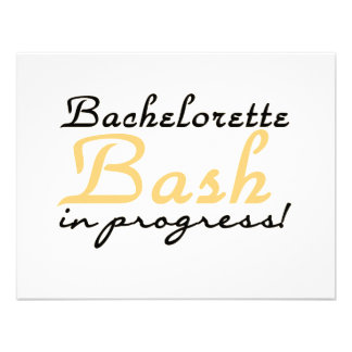 Yellow Bachelorette Bash Tshirts and Gifts Announcement