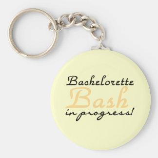 Yellow Bachelorette Bash Tshirts and Gifts Basic Round Button Keychain