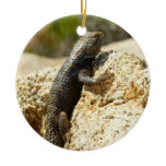Yellow-Backed Spiny Lizard at Joshua Tree Ceramic Ornament