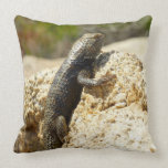 Yellow-Backed Spiny Lizard at Joshua Tree Throw Pillow