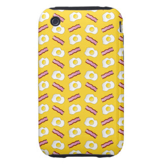 Yellow bacon and eggs tough iPhone 3 cases
