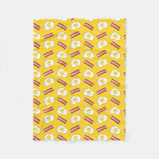 Yellow bacon and eggs fleece blanket