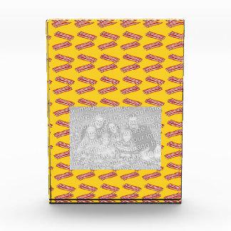 Yellow bacon pattern acrylic award