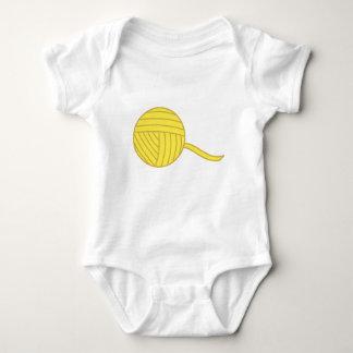 Yellow Ball of Yarn Baby Bodysuit