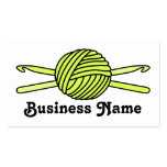 Yellow Ball of Yarn & Crochet Hooks Double-Sided Standard Business Cards (Pack Of 100)