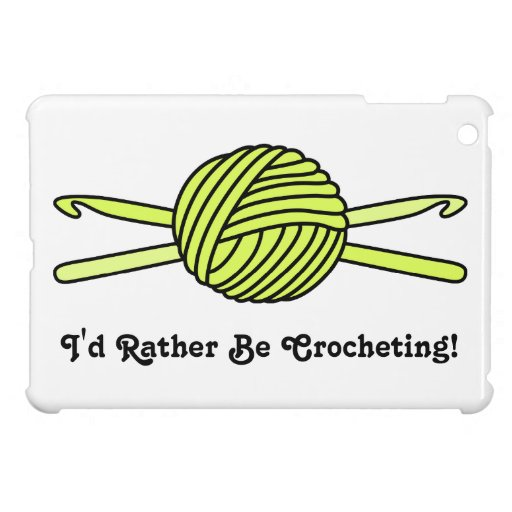 Yellow Ball of Yarn & Crochet Hooks iPad Mini Cases