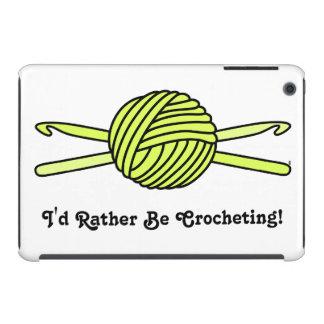 Yellow Ball of Yarn & Crochet Hooks iPad Mini Retina Cover