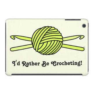 Yellow Ball of Yarn & Crochet Hooks (Version 2) iPad Mini Cases