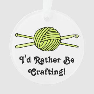 Yellow Ball of Yarn (Knit & Crochet)