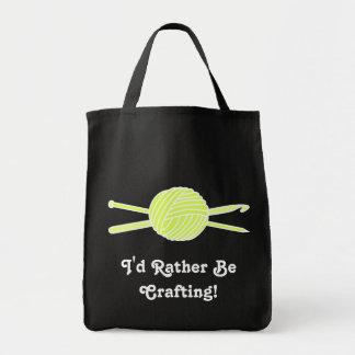 Yellow Ball of Yarn (Knit & Crochet) Bag