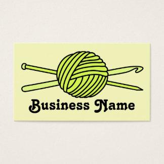 Yellow Ball of Yarn (Knit & Crochet) Business Card