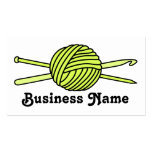 Yellow Ball of Yarn (Knit & Crochet) Business Cards