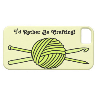 Yellow Ball of Yarn (Knit & Crochet) iPhone 5 Case