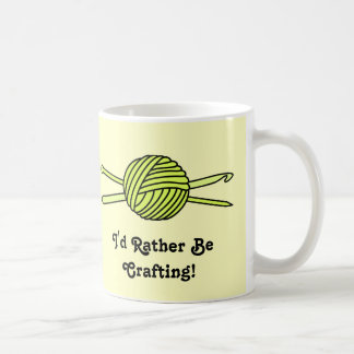 Yellow Ball of Yarn (Knit & Crochet) Coffee Mug