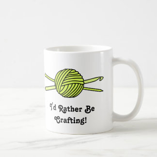 Yellow Ball of Yarn (Knit & Crochet) Coffee Mugs