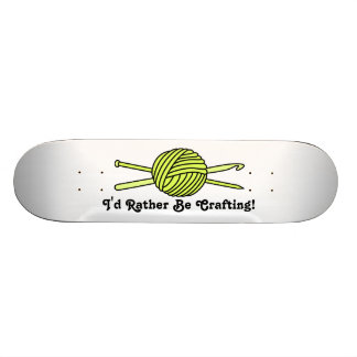 Yellow Ball of Yarn (Knit & Crochet) Skateboard