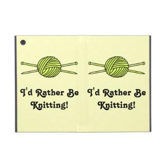 Yellow Ball of Yarn & Knitting Needles Case For iPad Mini