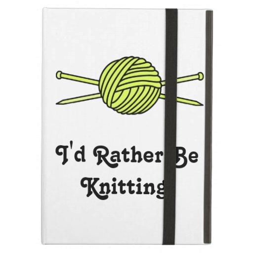 Yellow Ball of Yarn & Knitting Needles iPad Air Covers