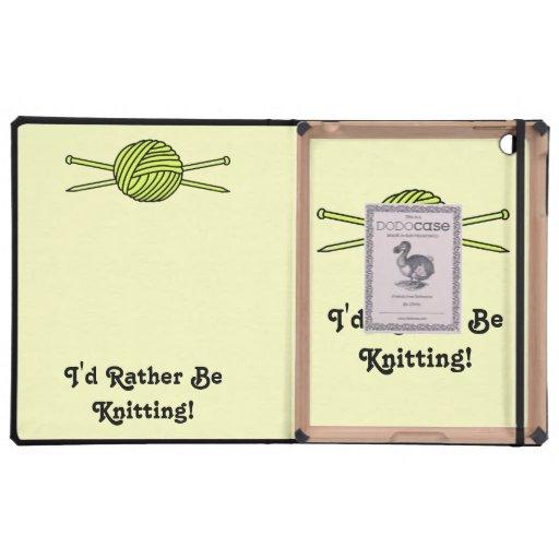 Yellow Ball of Yarn & Knitting Needles iPad Cases