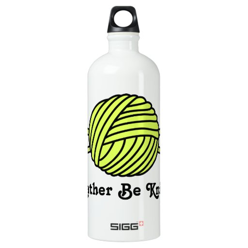 Yellow Ball of Yarn & Knitting Needles SIGG Traveler 1.0L Water Bottle