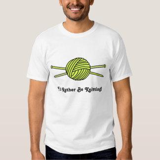 Yellow Ball of Yarn & Knitting Needles Tee Shirt