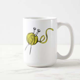 Yellow Ball of Yarn Coffee Mugs