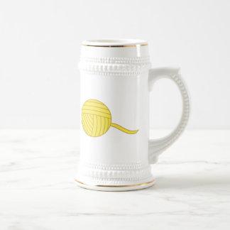 Yellow Ball of Yarn Mug