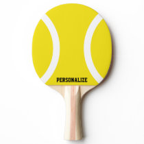 Yellow ball ping pong paddle for table tennis