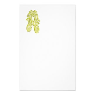 Yellow Ballet Shoes Stationery