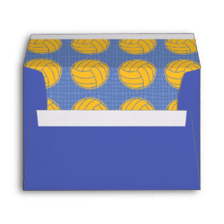 Yellow balls on blue background envelope